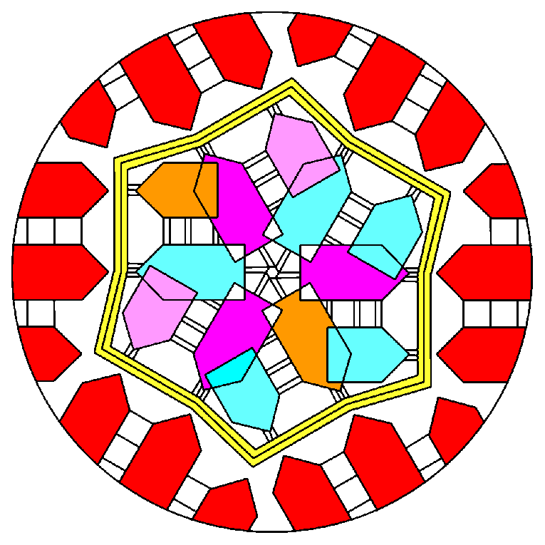 Madala pattern, arrows shaped as rectangles