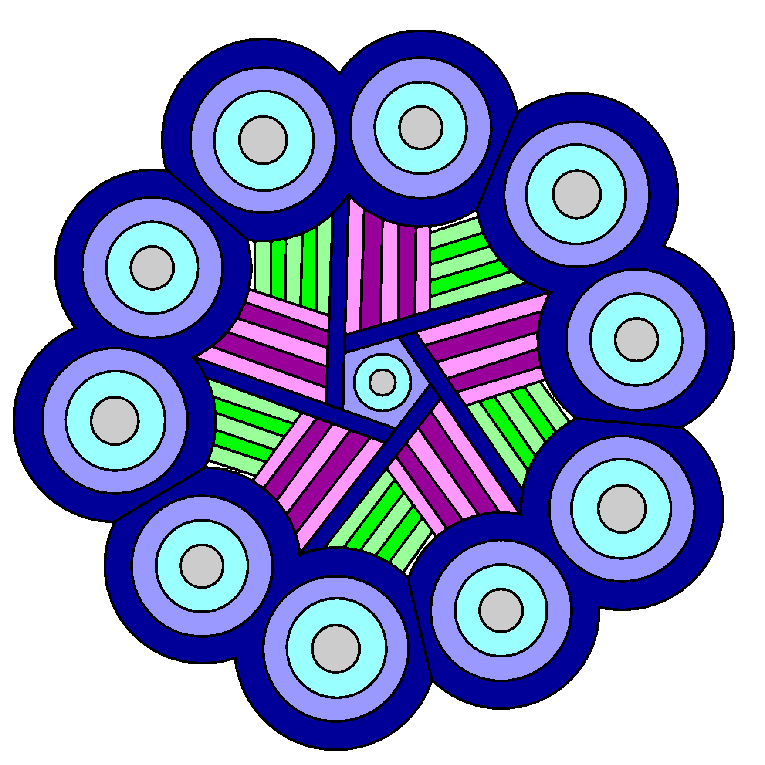 Mandala with circles and stripes