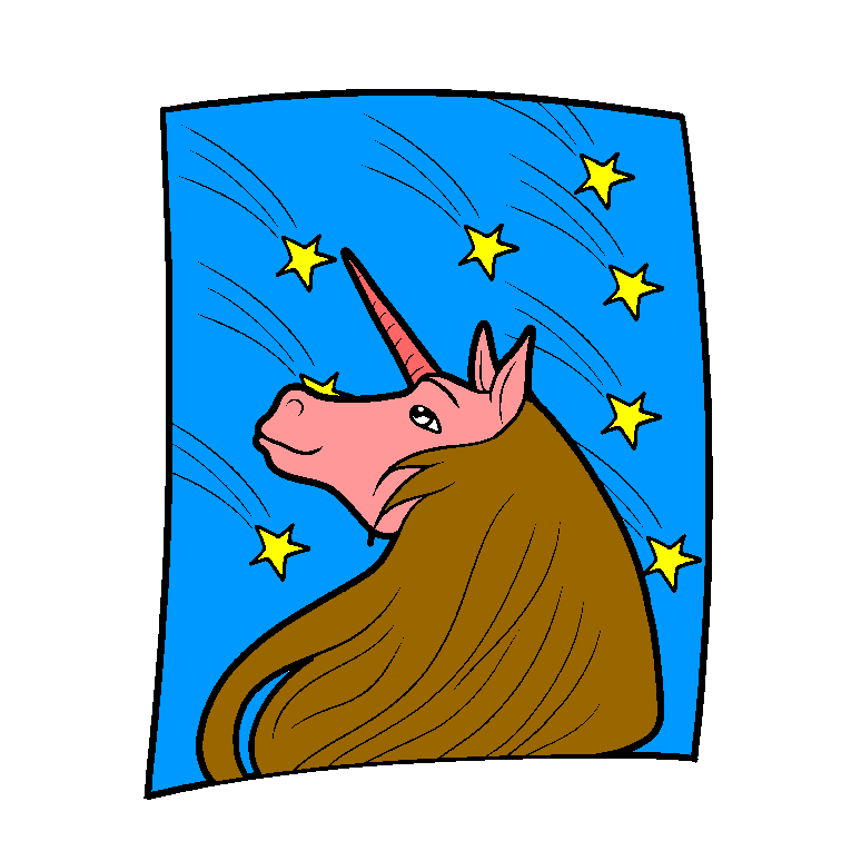 Unicorn looking at the stars