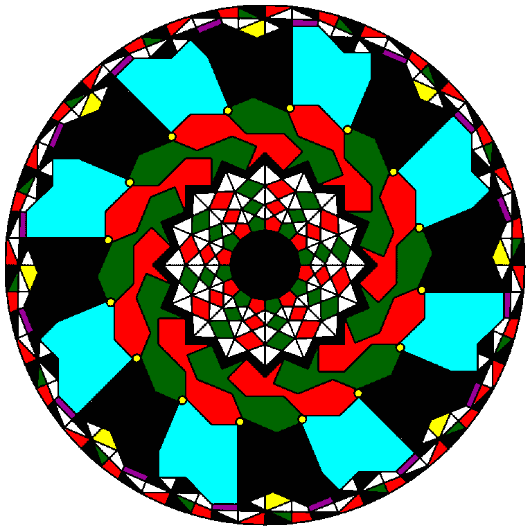 Mandala wit bothh small and large pattern