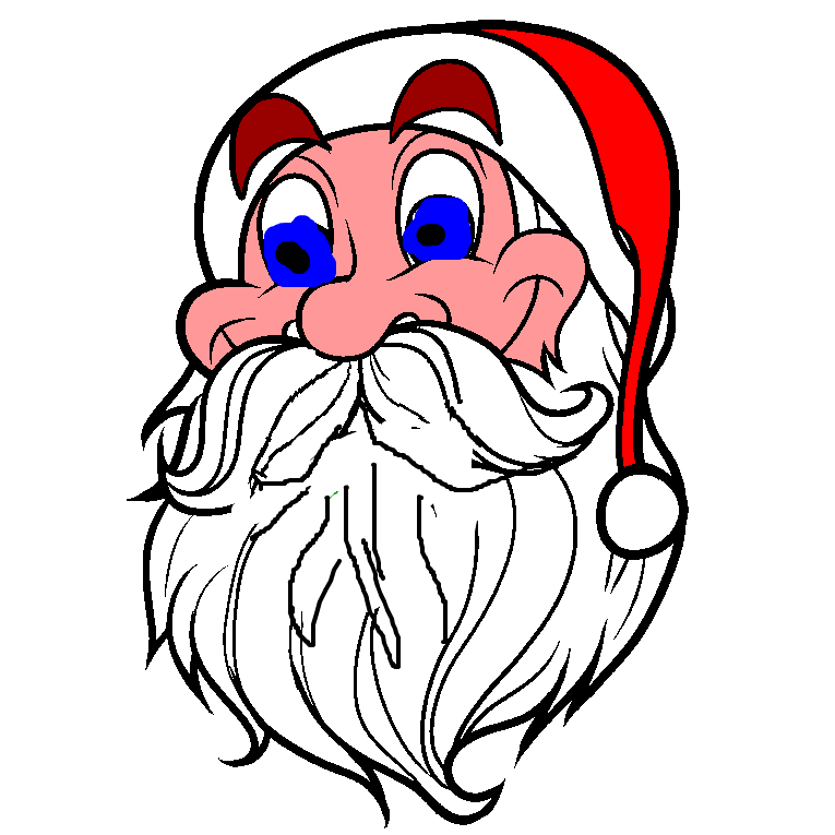 Close-up of the Santa Clause face
