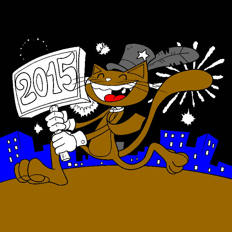 Cat on new years eve 2015