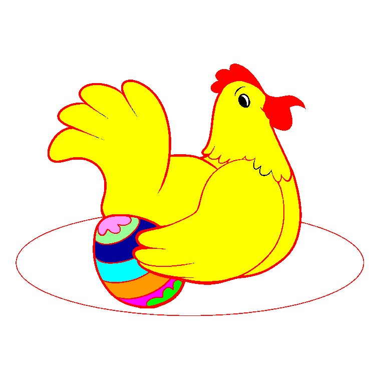 A hen with an Easter egg