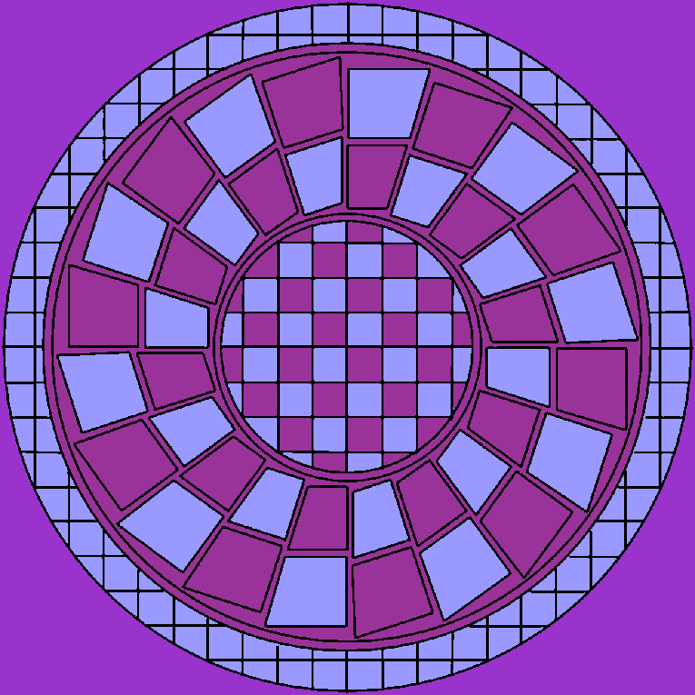Mandala with loads of squares