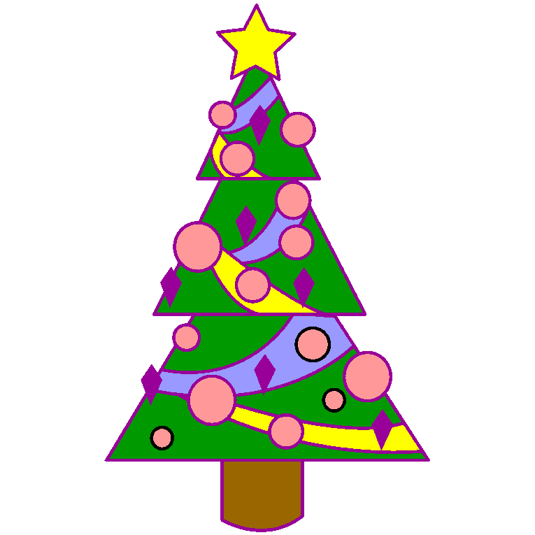 Christmas tree with angular shapes