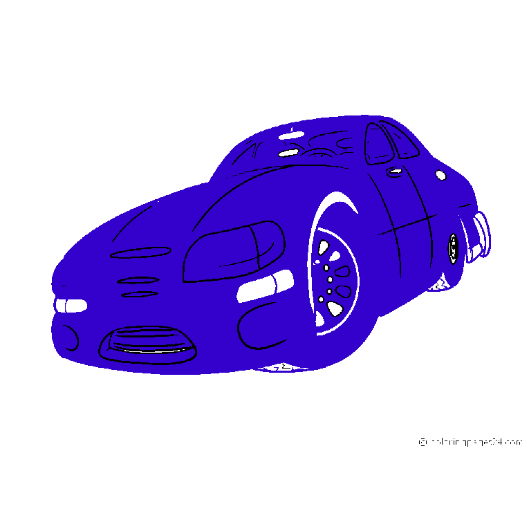 Cool sports car seen from the front