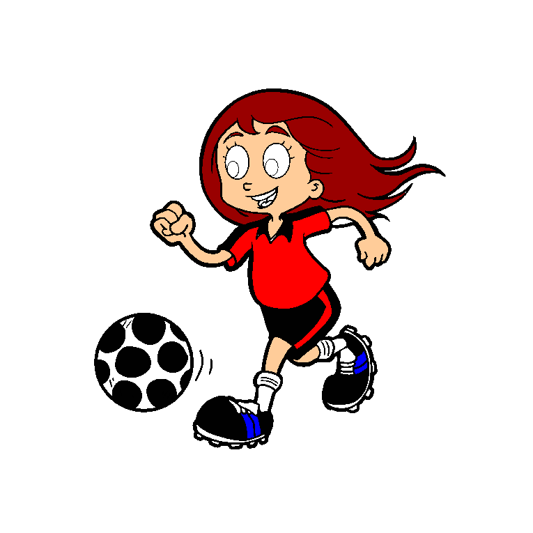 A girl that kicks a football