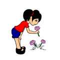 smelling the flowers - me, 61