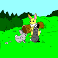 family of bunnies - Danielle, 8