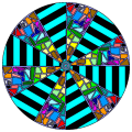 Hypnosis stained glass - Alexis, 13