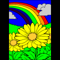 rainbowandflowers1 - sydni, 12