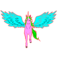 a magical pony flying in the sky - olivia, 10