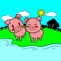 little pigs - veronica, 16