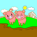 Best friends piggies - Emily, 8