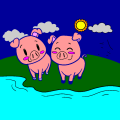 piggies on nice romantic picnic - Aunika, 11
