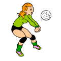 me playing volleyball - Gracie, 11