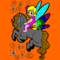 a fairy and her horse - jaydyn, 12