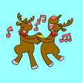 raindeers are dancing - aditi, 11