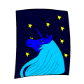 unicorn looking at shooting stars - haven bunch, 10