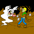 Scooby-doo and Shaggy see a ghost - Kylie, 9