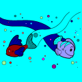 two fish swimming - ashlynn, 18