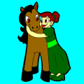 marida with her horse - kylie, 9