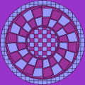 mandala with loads of squares - jo, 71