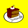 double chocolate cake slice - n., 15