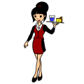 waitressing at restaurant - n, 15