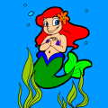 Seaweed Underwater - Happy Luna Mermaid Girl Fishtail, 100