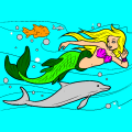 Mermaid and Fish Friends - Meg, 14