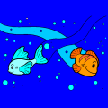 Fishes Swimming - Meg, 14