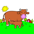 mum cow and calf - Animal Lover, 9