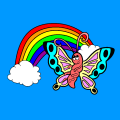 Rainbows and Butterflies - Jenna, 13